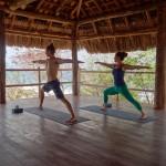 Yoga with beautiful view near San Juan del Sur, Nicaragua